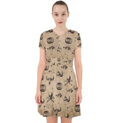 Vintage Halloween Pattern Adorable In Chiffon Dress