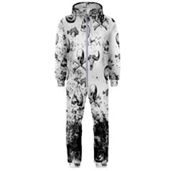 Vintage Halloween Pattern Hooded Jumpsuit (men)
