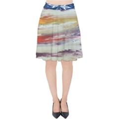 Imagesart Li Photo 27 06 2017, 8 10 22 Am Cara Azul Velvet High Waist Skirt