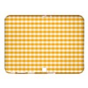 Pale Pumpkin Orange and White Halloween Gingham Check Samsung Galaxy Tab 4 (10.1 ) Hardshell Case  View1