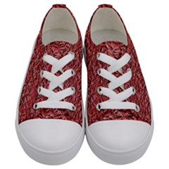 Jagged Stone Blue Kids  Low Top Canvas Sneakers