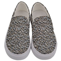 Jagged Stone Silver Men s Canvas Slip Ons