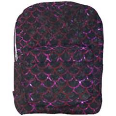 Scales1 Black Marble & Burgundy Marble Full Print Backpack