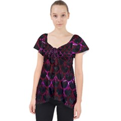 Scales3 Black Marble & Burgundy Marble Lace Front Dolly Top