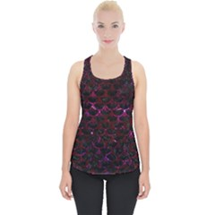 Scales3 Black Marble & Burgundy Marble Piece Up Tank Top
