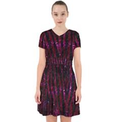 Skin4 Black Marble & Burgundy Marble Adorable In Chiffon Dress