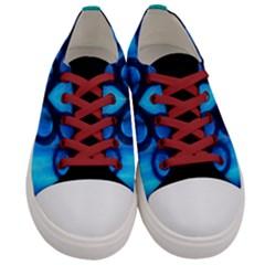 Sliding Blues Men s Low Top Canvas Sneakers