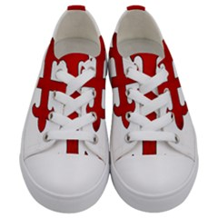 Crusader Cross Kids  Low Top Canvas Sneakers