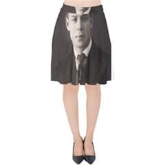 Sergei Yesenin Velvet High Waist Skirt