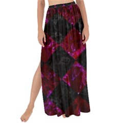 Square2 Black Marble & Burgundy Marble Maxi Chiffon Tie Up Sarong