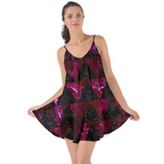 Triangle2 Black Marble & Burgundy Marble Love The Sun Cover Up