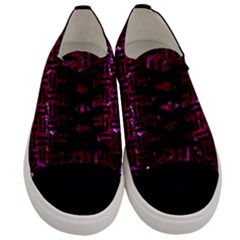 Woven1 Black Marble & Burgundy Marble (r) Men s Low Top Canvas Sneakers