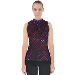Woven2 Black Marble & Burgundy Marble Shell Top