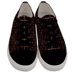 Brick1 Black Marble & Copper Foilper Foil Men s Low Top Canvas Sneakers