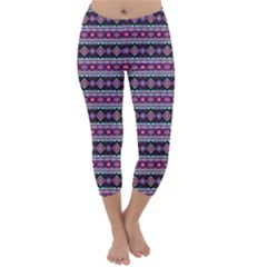 Fancy Tribal Border Pattern 17c Capri Winter Leggings
