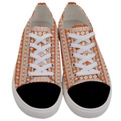 Fancy Tribal Border Pattern 17i Women s Low Top Canvas Sneakers