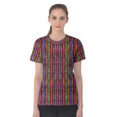 Star Fall In  Retro Peacock Colors Women s Cotton Tee