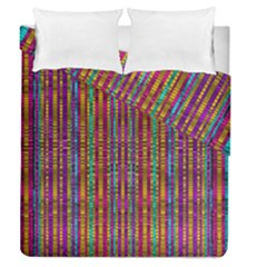 Star Fall In  Retro Peacock Colors Duvet Cover Double Side (queen Size)