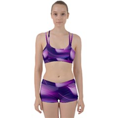 Abstract Purple Women s Sports Set