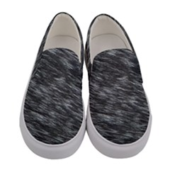 Blue Hair Women s Canvas Slip Ons