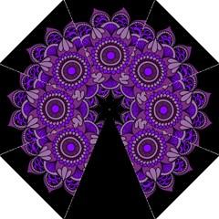 Purple Flower! Hook Handle Umbrellas (large)