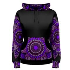 Purple Flower! Women s Pullover Hoodie