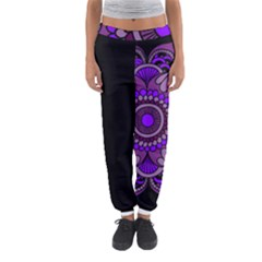 Purple Flower! Women s Jogger Sweatpants