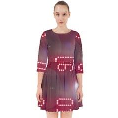 Numbers Game Smock Dress