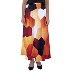 Fall Brown! Flared Maxi Skirt