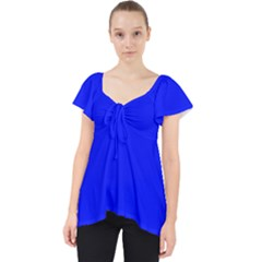 Blue! Blue! Blue! Lace Front Dolly Top