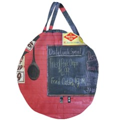 Country Store   Giant Round Zipper Tote