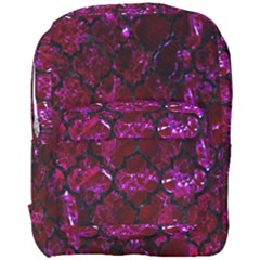 Tile1 Black Marble & Burgundy Marble (r) Full Print Backpack