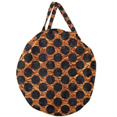 Circles2 Black Marble & Copper Foil (r) Giant Round Zipper Tote