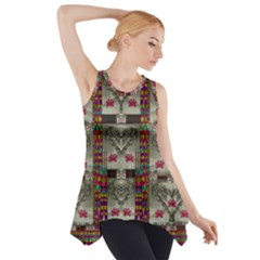 Wings Of Love In Peace And Freedom Side Drop Tank Tunic