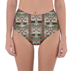 Wings Of Love In Peace And Freedom Reversible High Waist Bikini Bottoms