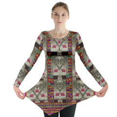 Wings Of Love In Peace And Freedom Long Sleeve Tunic