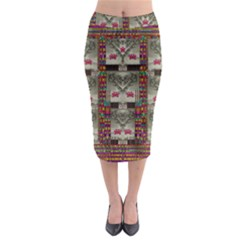 Wings Of Love In Peace And Freedom Midi Pencil Skirt