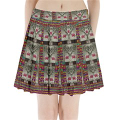 Wings Of Love In Peace And Freedom Pleated Mini Skirt