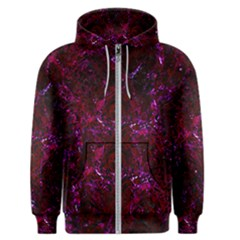 Damask1 Black Marble & Burgundy Marble (r) Men s Zipper Hoodie