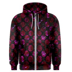 Circles2 Black Marble & Burgundy Marble Men s Zipper Hoodie