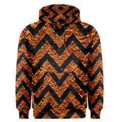 Chevron9 Black Marble & Copper Foil (r) Men s Pullover Hoodie