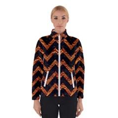 Chevron9 Black Marble & Copper Foil Winterwear