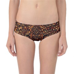 Damask2 Black Marble & Copper Foil (r)2 Black Marble & Copper Foil (r) Classic Bikini Bottoms