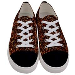 Damask2 Black Marble & Copper Foil (r)2 Black Marble & Copper Foil (r) Women s Low Top Canvas Sneakers