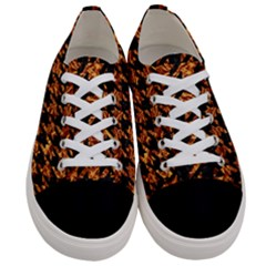 Houndstooth1 Black Marble & Copper Foil Women s Low Top Canvas Sneakers