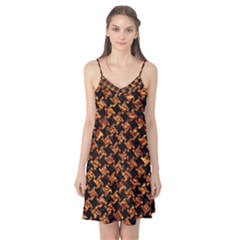 Houndstooth2 Black Marble & Copper Foil Camis Nightgown