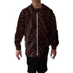 Hexagon1 Black Marble & Copper Foil Hooded Wind Breaker (kids)