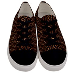 Hexagon1 Black Marble & Copper Foil Men s Low Top Canvas Sneakers