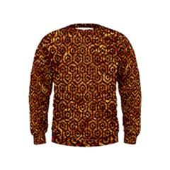 Hexagon1 Black Marble & Copper Foil (r)ble & Copper Foil (r) Kids  Sweatshirt
