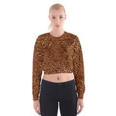 Hexagon1 Black Marble & Copper Foil (r)ble & Copper Foil (r) Cropped Sweatshirt
